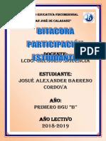 Caratula Bitacora Josue
