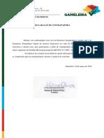 DECLARAÇÃO de CONTRA PARTIDA Patrulha Mecanizada 2018 Gameleira
