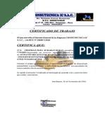 Certificado de Trabajo Consultecnica