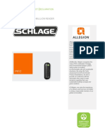 Allegion EPD Schlage PR10 Key Card Reader 112195