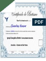 Certificado de Batismo Bethel
