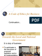 A Code of Ethics for Business