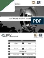 Encuesta Nacional Mayo 2019 Informe QueryArgentina.com M&R