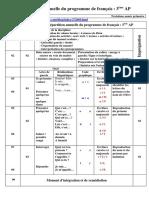Répartition Annuelle Du Programme de Français 3ème AP