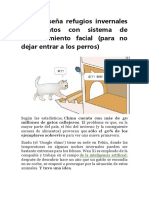 ALEX- Baidu Diseña Refugios Invernales Para Gatos Con Sistema de Reconocimiento Facial
