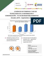 Indicadores Básicos de Tenencia y Uso de Tic en Microestablecimientos