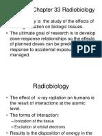 Week 7 C Chapter 33 Radiobiology (2)