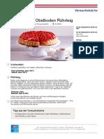 Rezept PDF Grundrezept Obstboden Ruehrteig