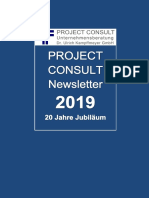[DE] PROJECT CONSULT Newsletter | PROJECT CONSULT Unternehmensberatung Dr. Ulrich Kampffmeyer GmbH | Hamburg | Ferbuar 2019 | ISSN 1349-0809