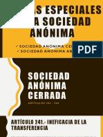 Formas Especiales de La Sociedad Anónima