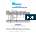 CBSE - Senior School Certificate Examination (Class XII) Results 2019
