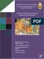 #1 Informe Geoquimica aplicada .