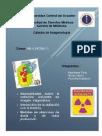 Grupo 1 Generalidades Sobre La Radiación Ionizante en Imagen Diagnóstica