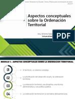 Presentación - Teoría de La Ordenación Teriitorial en El Ecuador