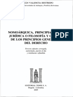 Nomoárquica principialística jurídica o Valencia