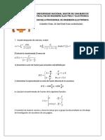 Examen Final Mat. Avanzadas