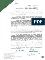 Réponse d'Emmanuel Macron aux élus du Territoire de Belfort