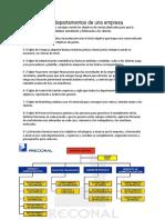 Estructura Por Departamentos de Una Empresa