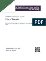 Wapato Fraud Report