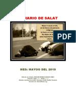 Horarios de Salats MAYO 2019 Ecuador