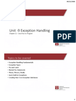 Unit 9 Exception Handling