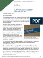 ConJur - Para Advogados, MP 881 Esvazia Poder Vinculante de Súmulas Do Carf