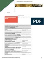 Calendario académico 2019 _ Facultad de Filosofía y Letras - UBA