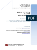 Soal Semester1 Bahasa Indonesia 6