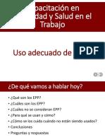 Uso de EPPs