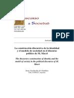 Discurso  y sociedad  :La construcción discursiva de la identidad y el modelo de sociedad en el discurso político de M. Macri