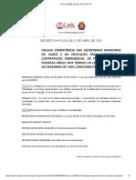 Decreto 53829 2013 de São Paulo SP Contratação Emergencial