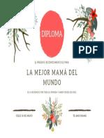 DIPLOMA PARA MAMÁ 10 DE MAYO 00