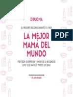 DIPLOMA PARA MAMÁ 10 DE MAYO 06