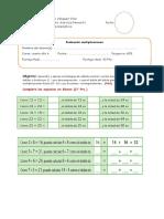 Evaluación multiplicaciones