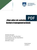 TRANSGENERACIONAL.+CIEN+AÑOS+DE+SOLEDAD,+UNA+LECTURA...