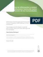 Tecnologías de formación post humano
