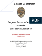 Terrence Carraway Scholarship application
