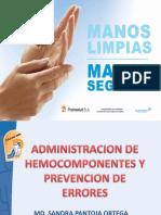 administracion de hemocomponentes y prevencion de errores