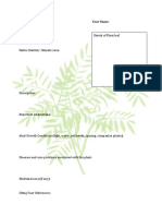 Plant Report Template Class 81