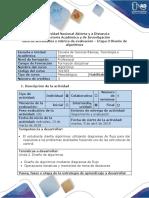 Guia de Actividades y Rubrica de Evaluación - Etapa 3 - Diseño de Algoritmos