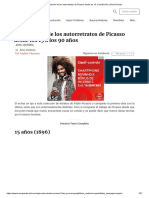 La Evolución de Los Autorretratos de Picasso Desde Los 15 a Los 90 Años _ Bored Panda