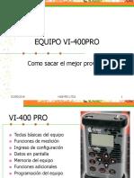 Vibraciones Uso Del Vi-400pro