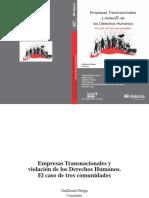 Empresas Transnacionales y violación de los Derechos Humanos. El caso de tres comunidades