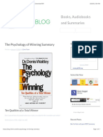 The Psychology of Winning Summary - Denis Waitley | Download PDF