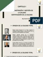 Capitulo i Administracion y Gestion de La Calidad Certificacion de La Calidad
