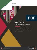 Harvard Fintech Online Short Course Brochure
