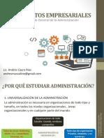 Introducción a Fundamentos Empresariales - Administración de Empresas