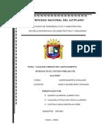 Analisis Asentamiento Humano en c.p. Salcedo