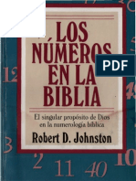 Los Numeros en La Biblia Robert D. Johnston