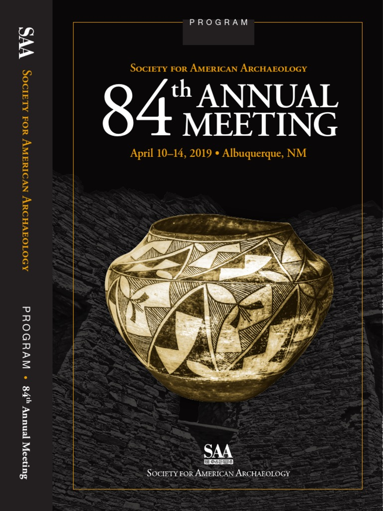 SAA 2019 Final Program pdf | Archaeology | Harassment